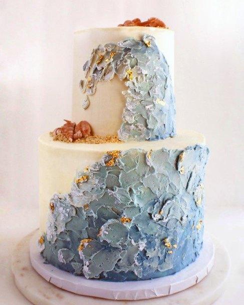 Yummy Beach Wedding Cake Women