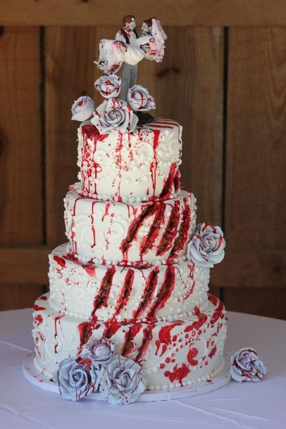 Zombie Themedwedding Cake Ideas